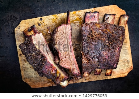 Carne costela telha comida carne Foto stock © bluering