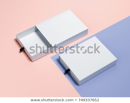 Bleu produit emballage boîte carte contenant Photo stock © Akhilesh