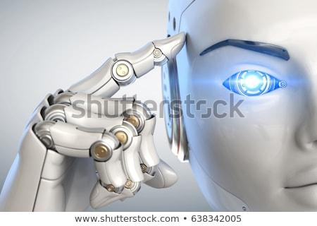 искусственный · интеллект · мозг · микрочип · 3d · иллюстрации · микропроцессор · голову - Сток-фото © idesign