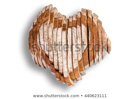 vorm · hart · tarwe · houten · gezondheid · brood - stockfoto © ozgur