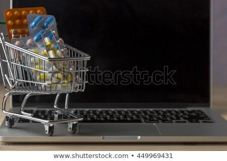 drogas · carrinho · de · compras · criador · medicina · saúde · pílulas - foto stock © ironstealth
