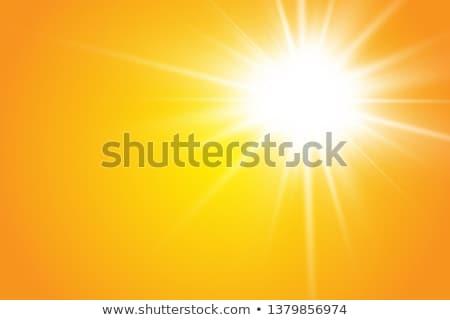 Oranje zon hand geschilderd olie pastel Stockfoto © pakete