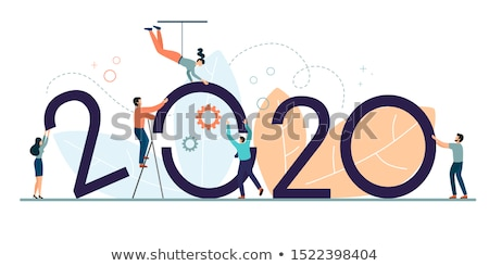 Business succes bouwer zakenman ballonnen Stockfoto © Lightsource