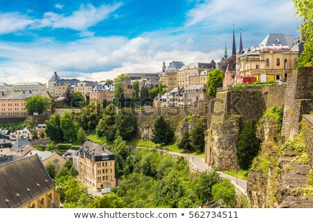Scenic view of the Luxembourg City and the Alzette river Stock photo © amok