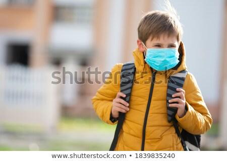 Gyerekek beteg iskolások iskola illusztráció lány Stock fotó © bluering