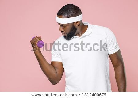 gordo · entrenamiento · feliz · trabajo · deporte · fitness - foto stock © pedromonteiro