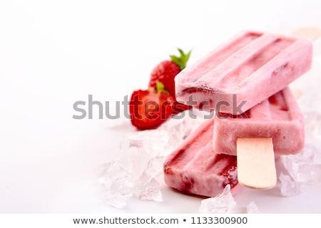 Jogurt biały żywności tle Zdjęcia stock © racoolstudio