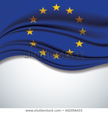 True proportions European Union flag with texture Stock photo © Evgeny89