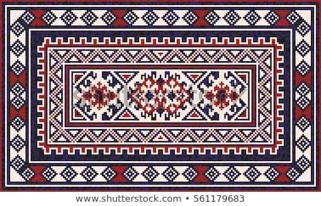 türk · halı · arka · plan · sanat · kırmızı · Asya - stok fotoğraf © zurijeta