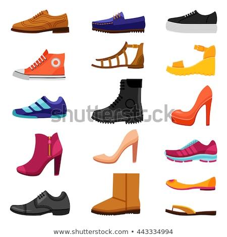 Shopping high-heeled shoes flat icon Stock photo © Margolana