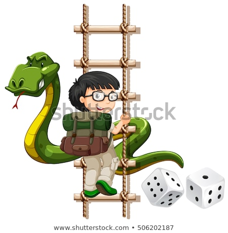 少年 ヘビ 登山 アップ はしご 実例 ストックフォト © bluering