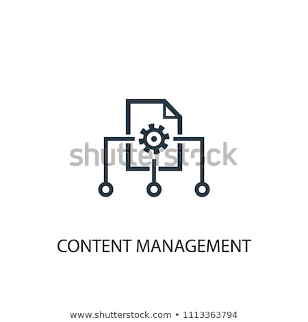 Cms icono magenta emblema aislado blanco Foto stock © Oakozhan