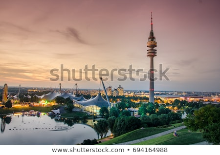 Tower of stadium of the Olympiapark in Munich, Germany, is an Ol Stock photo © meinzahn