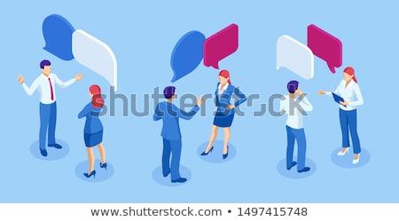 isometric people   dialog stock photo © anatolym