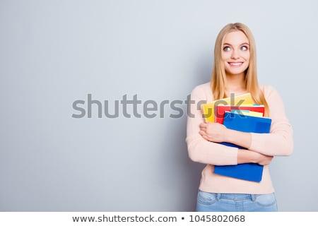 fiatal · diák · egyetem · vizsgák · könyvek · iskola - stock fotó © elnur