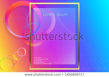 abstrato · cor · cartão · de · visita · modelo · vetor · projeto - foto stock © SArts