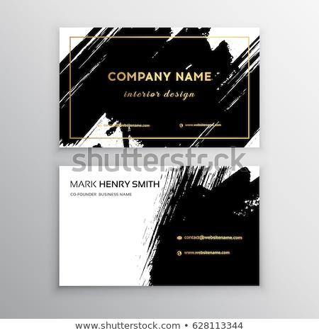 grunge splash business card vector design illustration Stock photo © SArts