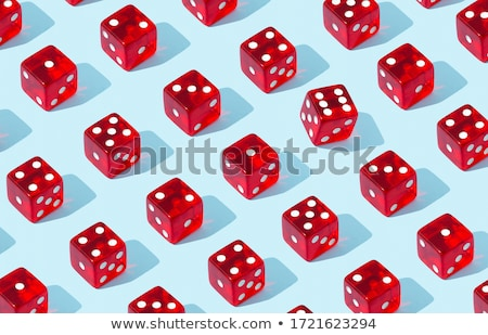 six standing red game dices stock photo © djmilic