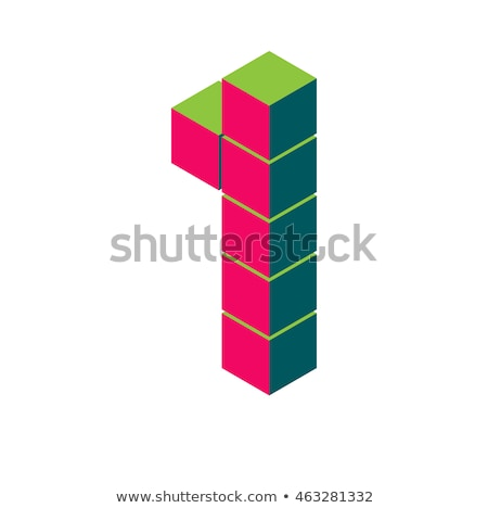 3d abstract style logo with number 1 Stock photo © SArts