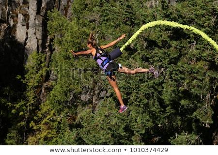685bc53bb381 Girl Bungee Jump stock photo © Beata Predko (FOTOYOU) ( 7786753 ...