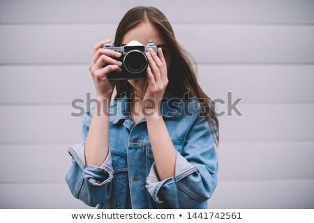 молодые · фото · ретро · камеры - Сток-фото © deandrobot