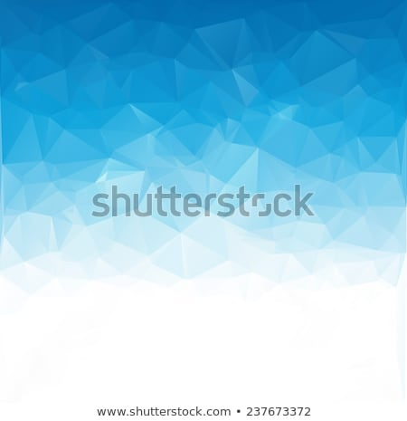 3d polygon triangle on blue background Stock photo © SArts