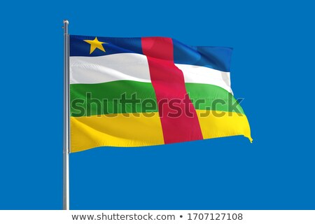Centraal afrikaanse republiek vlag vector Stockfoto © Amplion
