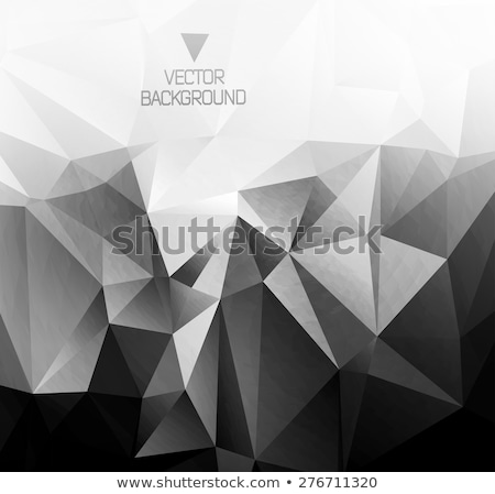 Abstract background with low poly crystals Stock photo © SwillSkill