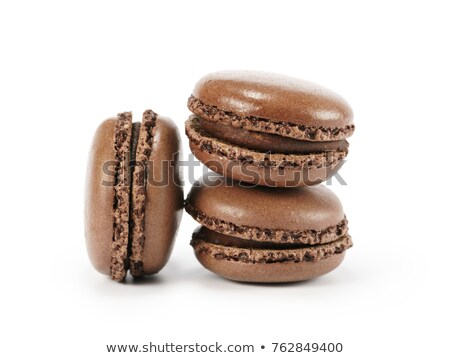 brown macarons isolated stock photo © givaga