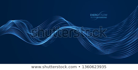Stockfoto: Abstract · bokeh · golven · Blauw · zwarte · textuur