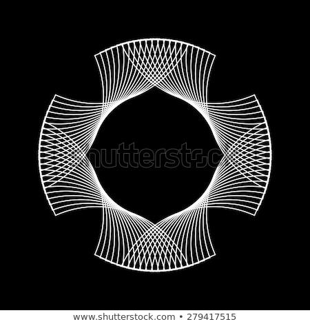 branco · abstrato · fractal · forma · tecnologia · preto - foto stock © molaruso