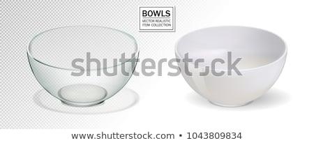 Empty transparent glass cooking bowl. Stock photo © tuulijumala