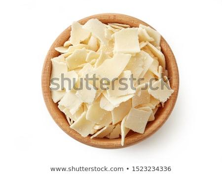 Tigela queijo parmesão peças branco comida queijo Foto stock © Digifoodstock