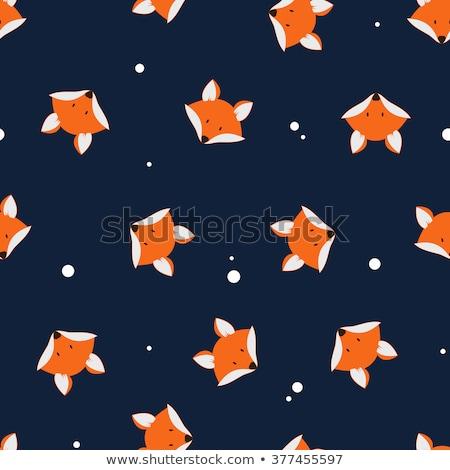 fox face pattern. Cute wild animal background Stock photo © popaukropa