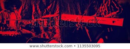 Zanger trommelaar verlicht discotheek concert Stockfoto © wavebreak_media