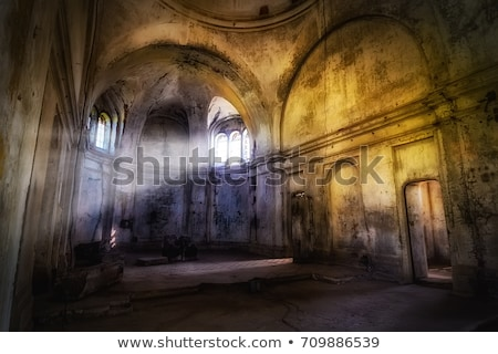 Antigo janela ruínas medieval castelo textura Foto stock © stefanoventuri