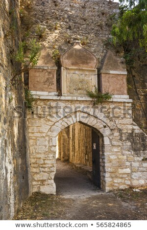 Entrance of the Venetian Castle of Agia Mavra - Greek island of Lefkada Stock photo © ankarb