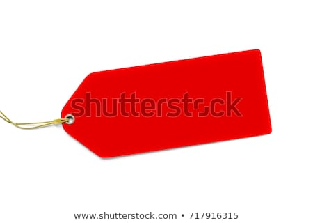 a typical red price tag isolated on white background stock photo © magann