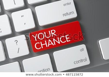 Your Chance Keypad. 3D. Stock photo © tashatuvango