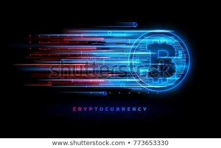 Bitcoin hálózat digitális pénz technológia valuta Stock fotó © Lightsource