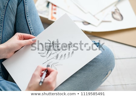 concept of drawing,  hobby  Stock photo © Olena