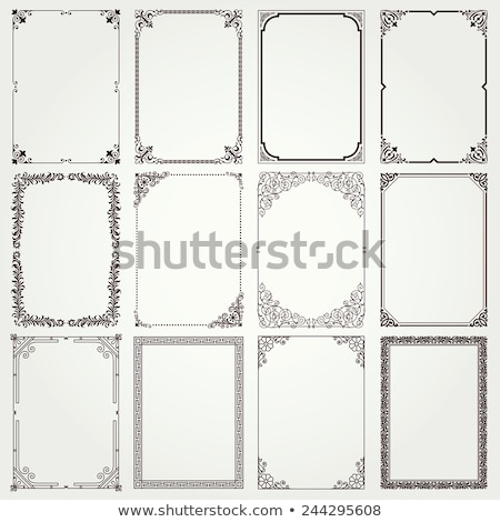 Set of 4 Vintage Frames Stock photo © 3mc