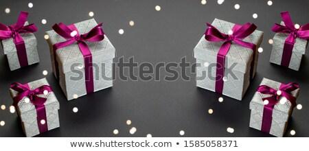 Karácsony ünnepek dísz karácsonyi üdvözlet fény cukorka Stock fotó © Konstanttin