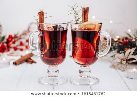 Quente vinho natal ano novo férias beber Foto stock © YuliyaGontar