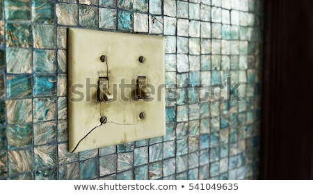 Old broken light switch Stock photo © elwynn