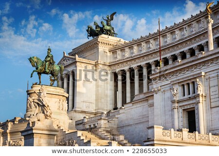 View of the national monument a Vittorio Emanuele II, Piazza Venezia in Rome, Italy Stock photo © ankarb