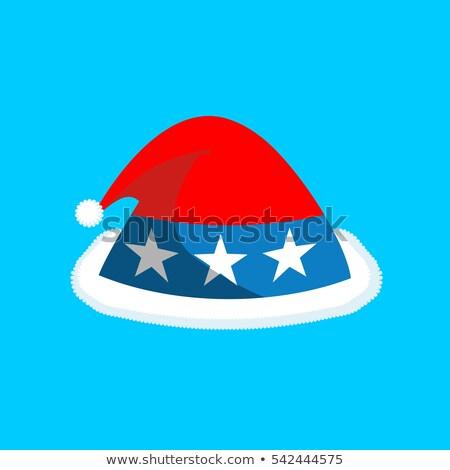 Seis cor bandeira americano natal Foto stock © popaukropa