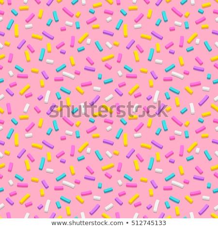 Birthday cake seamless pattern. Vector illustration. Stock photo © gladiolus