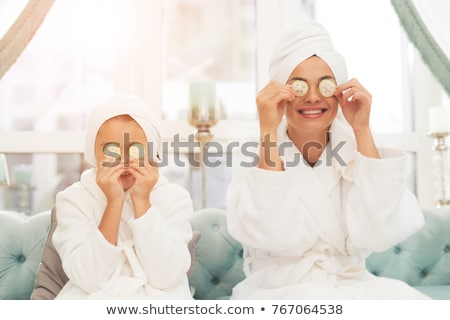 Mother and Daughter in towels Stock photo © IS2