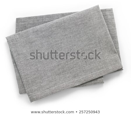 top view of white fabric and blank grey background Stock photo © LightFieldStudios